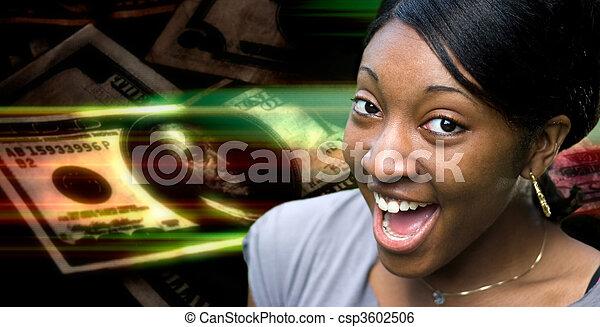 Happy Money Woman - csp3602506
