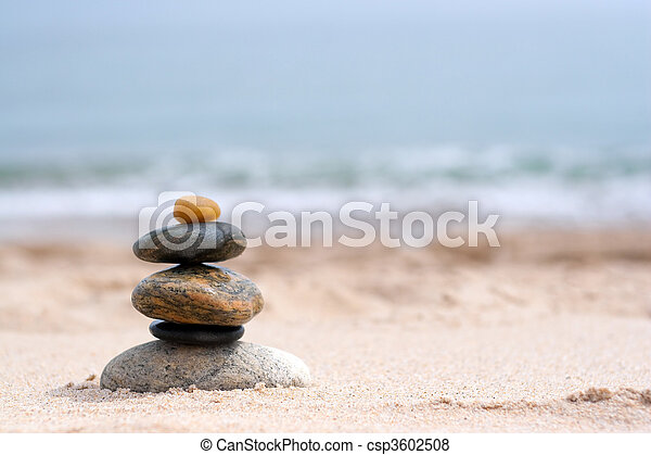 Smooth Stacked Rocks - csp3602508