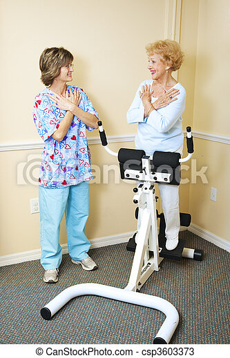 Physical Therapist with Chiropractic Patient - csp3603373