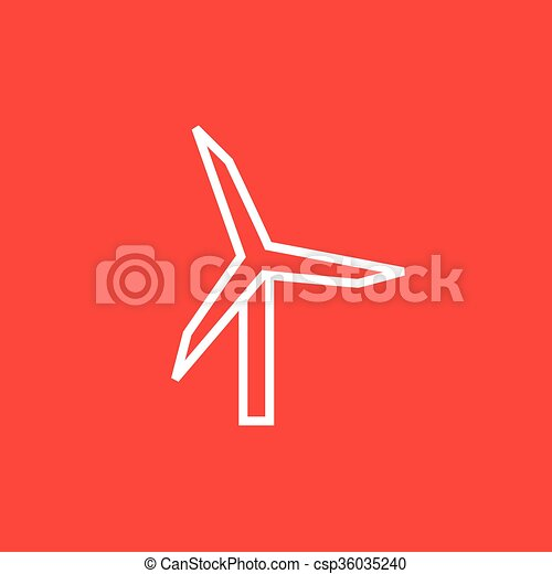 Windmill line icon. - csp36035240