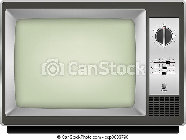 vintage tv - csp3603790