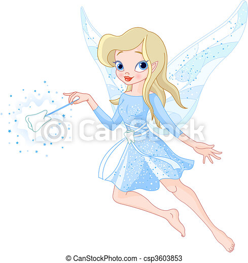 Tooth fairy with magic wand - csp3603853