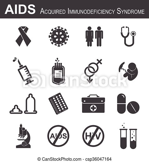 Clip Art Vector of AIDS icon( red ribbon,HIV... csp36047164 ...