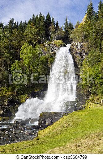 Skeie Waterfall - csp3604799
