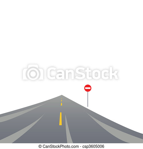 The asphalted road - csp3605006