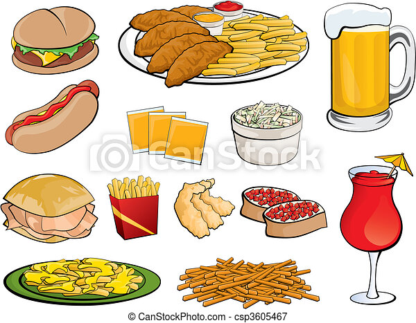 Food Icons - csp3605467