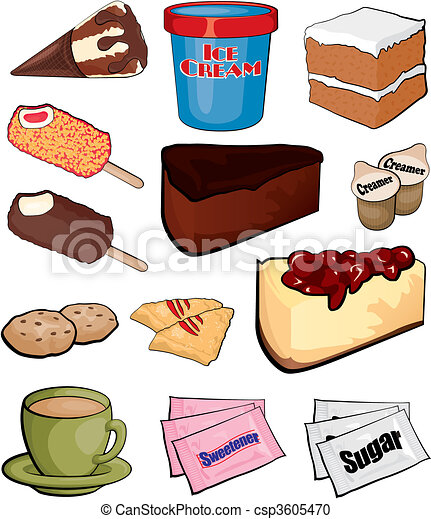 clipart vecteur de dessert ic nes csp3605470 recherchez des images graphiques vecteur eps. Black Bedroom Furniture Sets. Home Design Ideas