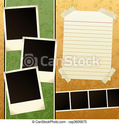 Grunge Scrapbook Template - csp3605675
