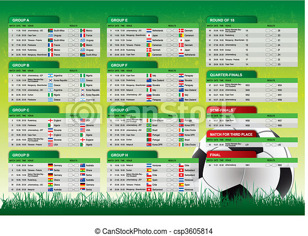 2010 South Africa Schedule - csp3605814