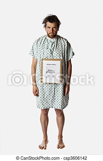angry hospital patient - csp3606142