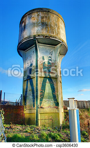 Disused water tower, Cardiff - csp3606430