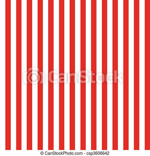 Stripe Seamless Pattern Red and White - csp3606642