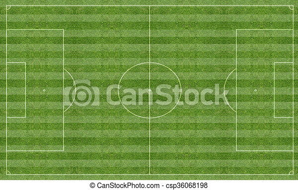 Football pitch with markings - csp36068198