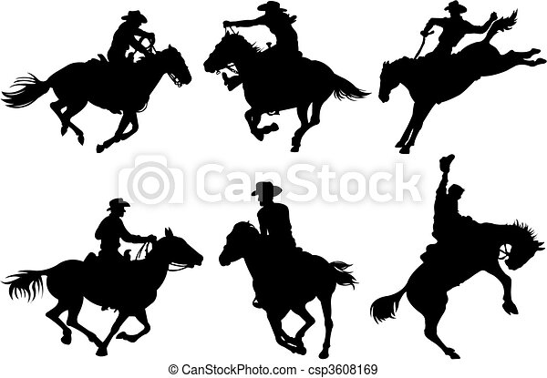 Cowboys silhouettes - csp3608169