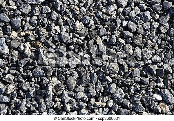 gravel gray stone textures for asphalt mix concrete - csp3608631