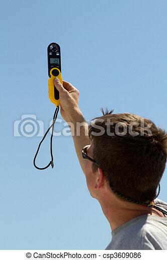 Handheld Windspeed Meter - csp3609086