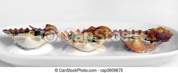 Tempting Seafood Entree - csp3609670