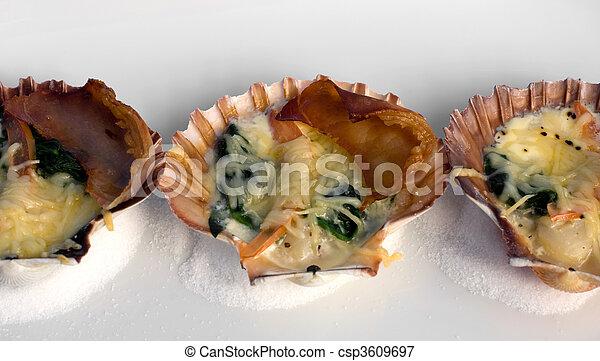 Tempting Seafood Entree - csp3609697