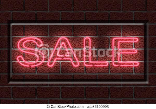 Neon SALE sign - csp36100998