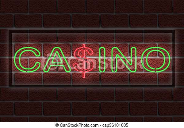 Neon CASINO sign - csp36101005