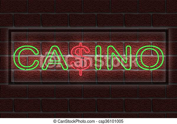 Neon CASINO sign - csp36101005