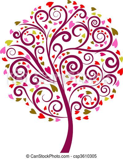 Decorative tree - 1  - csp3610305