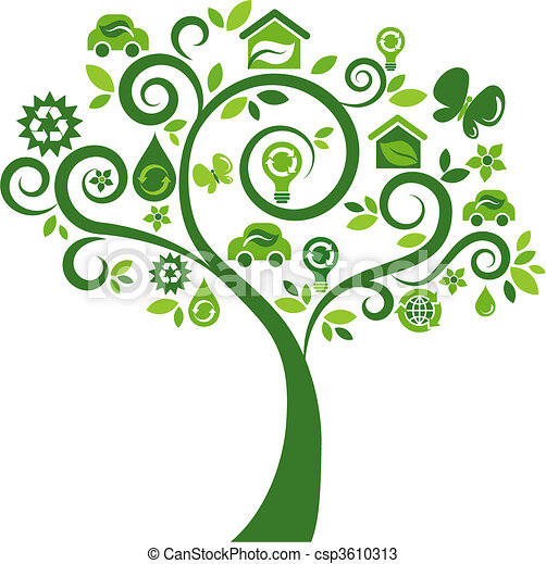 Ecological icons tree - 2 - csp3610313