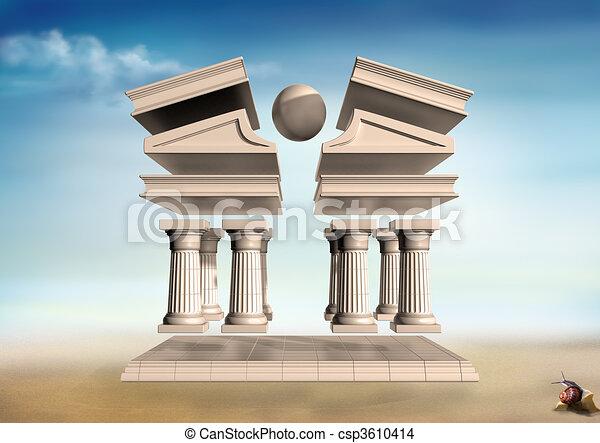 Surreal Greek Temple - csp3610414