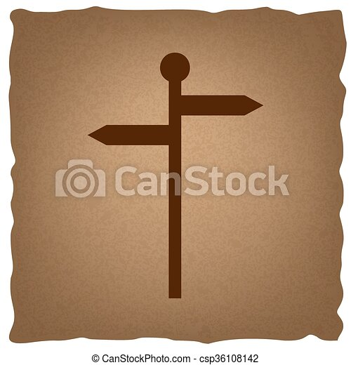Direction road sign - csp36108142