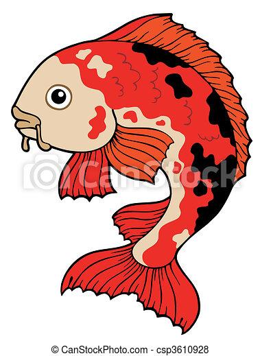 Clip Art Koi Fish Clipart koi illustrations and stock art 1020 illustration vector fish on white background illustration