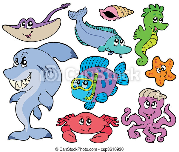 Ocean animals collection - csp3610930