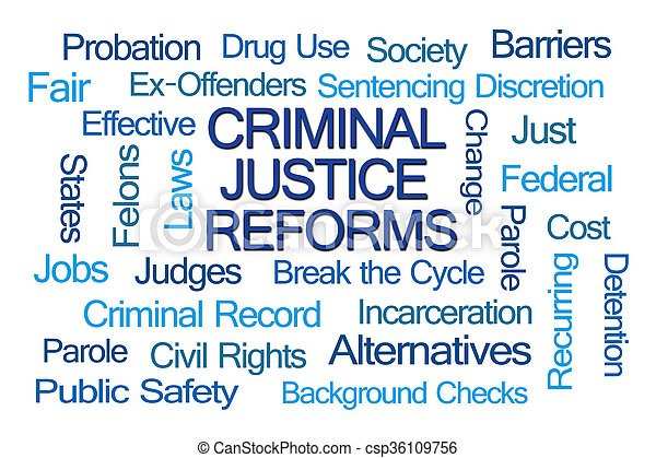 Criminal Justice Reforms Word Cloud - csp36109756