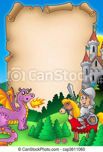 Fairy tale parchment 1 - csp3611060