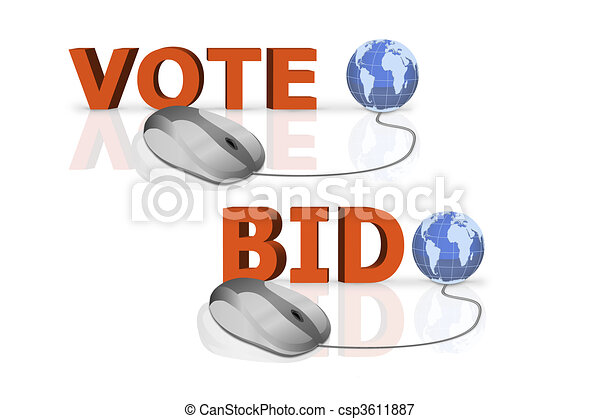 vote and bid - csp3611887
