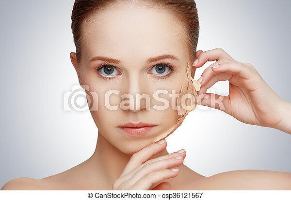 beauty concept rejuvenation, renewal, skin care, skin problems - csp36121567