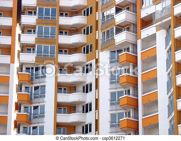 modern apartment skyscraper house - csp3612271
