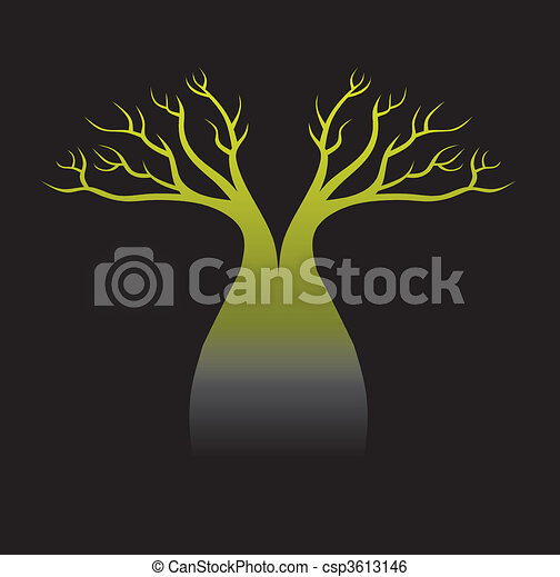 Australian boab tree - csp3613146