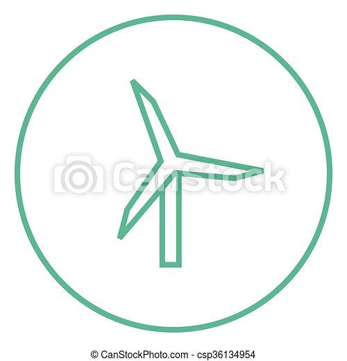 Windmill line icon. - csp36134954