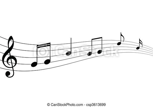 Musical Notes - csp3613699
