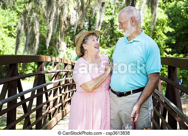 Vacation Seniors - Laughter - csp3613838