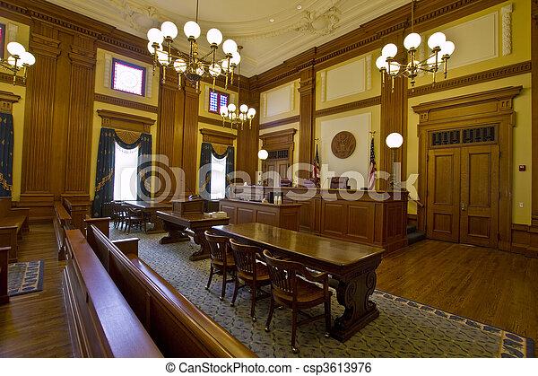 bâtiment, historique, salle audience - csp3613976