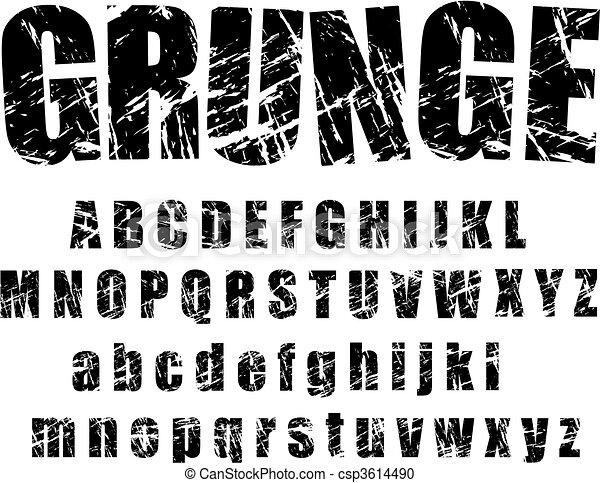 grunge alphabet - 1 - csp3614490