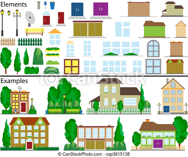 Suburban small houses. - csp3615138