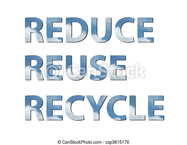 Reduce, reuse, recycle air - csp3615176