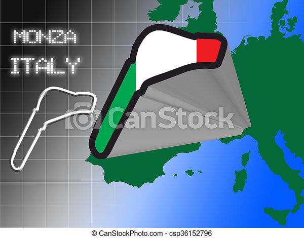 Italian racetrack - csp36152796