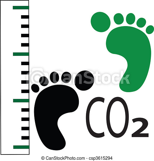 carbon foot print - csp3615294