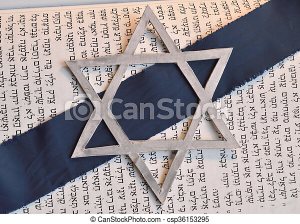 Star of David background against Hebrew tanach text in Isaiah.