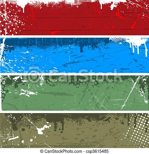 Grunge panels - csp3615485