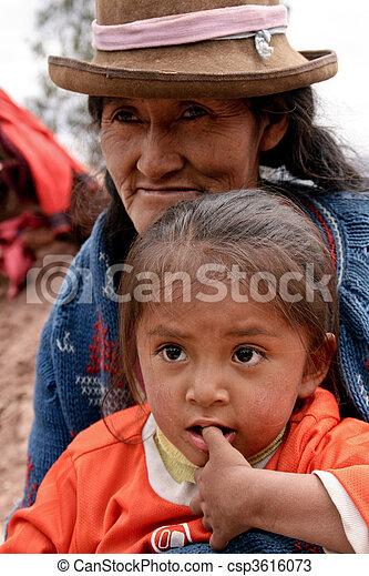 Poor Child In Cuzco, Peru, South America - csp3616073