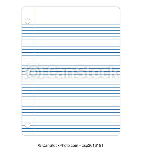 Vector Notebook Paper - csp3616191